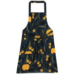 Jaspi apron, dark blue - yellow
