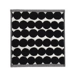 Räsymatto mini towel, black-white
