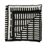 Siena blanket, black-white