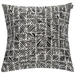 Juustomuotti cushion cover 45 x 45 cm, black - white