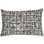 Juustomuotti cushion cover 40 x 60 cm, black - off white