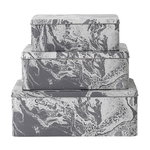 Ferm Living Tin boxes, set of 3, marble