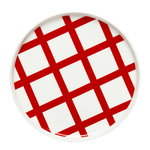 Oiva - Spalj� plate 20 cm, white, red