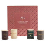 Scented candle set 4 pcs, Jul mini