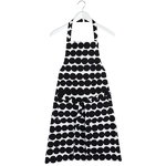 Räsymatto apron, black-white