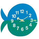 Vitra Zoo Timers wall clock, Fernando the Fish