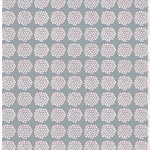 Puketti fabric, grey - white - orange