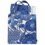 Mynsteri bag & fabric set, off-white - dark blue