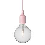 Muuto E27 socket lamp, rose