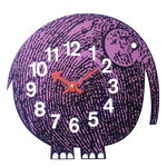 Zoo Timers wall clock, Elihu the Elephant
