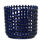Ceramic basket, large, blue