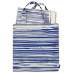 Siluetti bag & fabric set, light beige - blue