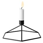 POV candleholder table, black