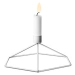 POV candleholder table, white