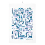M�kkil� tea towel, blue