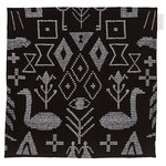 Maailman synty tea towel/placemat, black