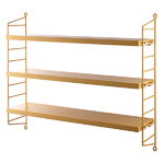 String Pocket shelf, mustard
