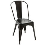 A chair, black