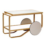 Aalto tea trolley 901, white - birch