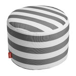 Pouf Point Outdoor, righe, antracite - bianco