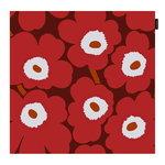 Fodera per cuscino Pieni Unikko 50 x 50 cm, rosso - grigio chiar