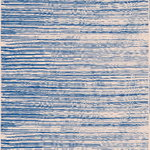 Siluetti  fabric, light beige - blue