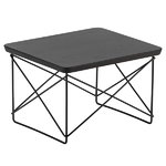 Eames LTR Occasional table, smoked oak - black