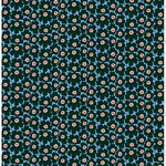 Mini Unikko fabric, light blue - peach