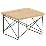 Eames LTR Occasional table, oiled oak - black