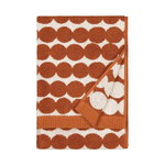 Räsymatto hand towel, white - chestnut