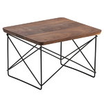 Eames LTR Occasional table, walnut - black