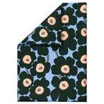 Unikko duvet cover, light blue - peach