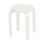 Aalto stool E60, lacquered white