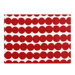 R�symatto coated cotton placemat, red-white