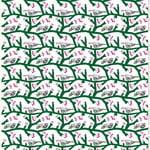Tessuto Pikkupakkanen, bianco-verde-fucsia
