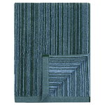 Varvunraita bath towel, light blue, dark green