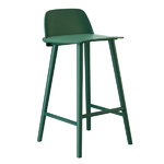 Nerd bar stool, low, green, PU lacquer