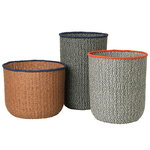 Braided baskets, set of 3