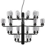 Amp chandelier, large, smoke-black