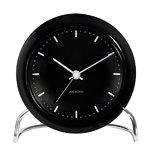 AJ City Hall table clock with alarm, black
