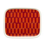 Oiva - Piekana plate, 15 x 12 cm, dark red - orange