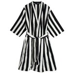 Nimikko bathrobe, off white - black