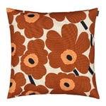 Pieni Unikko cushion cover 50 x 50 cm, cotton - chestnut