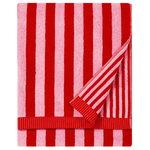Kaksi Raitaa bath towel, red - pink