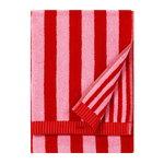 Kaksi Raitaa hand towel, red - pink