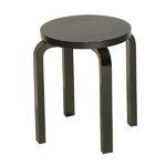 Artek Aalto stool E60, lacquered black