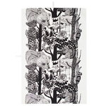 Veljekset tea towel, black-white