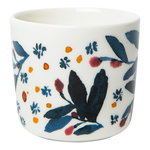 Oiva - Hyhmä coffee cup 2 dl, 2 pcs, w/o handle, white - blue -