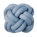 Knot cushion, blue
