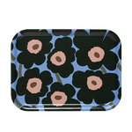 Mini Unikko tray, light blue - peach